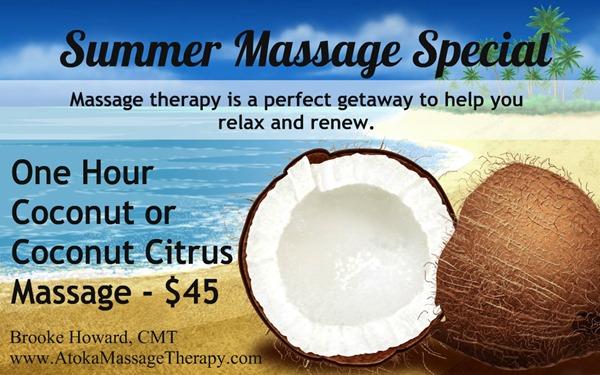 Summer Coconut Massage Special