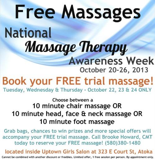 free massages awareness week2