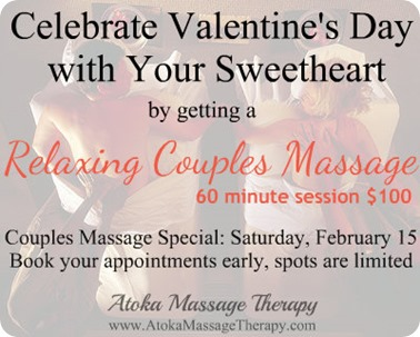 vday special 2014 couples massage