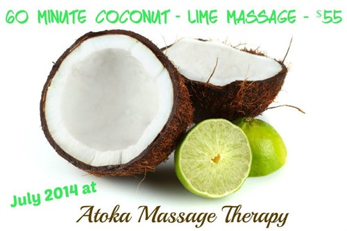 coconut lime summer massage special
