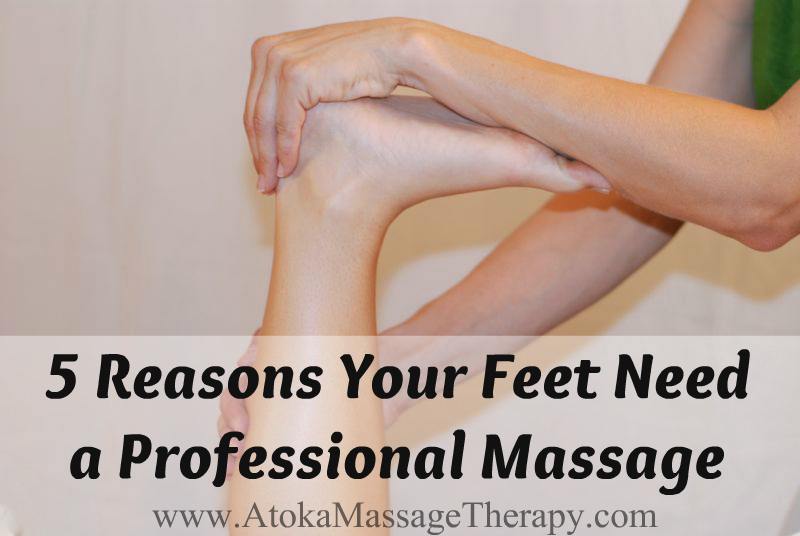 professional foot massage calf stretch